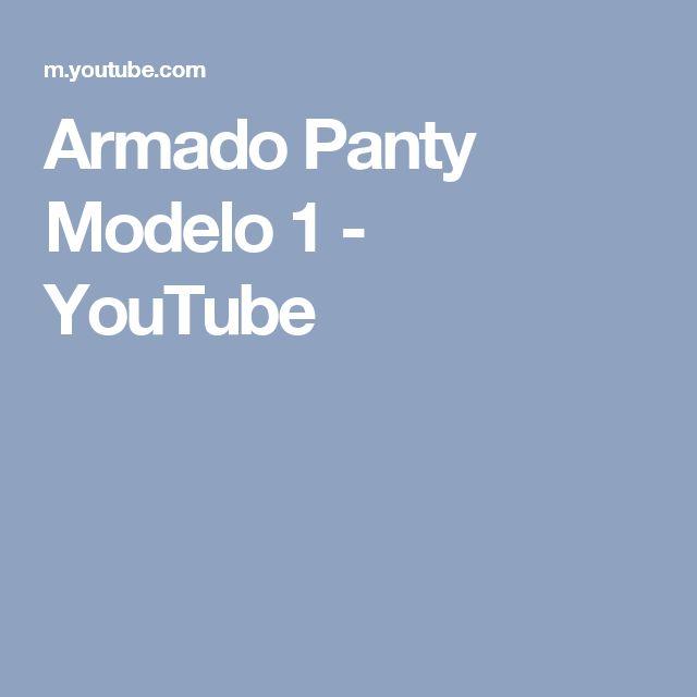 Armado Panty Modelo 1 Youtube