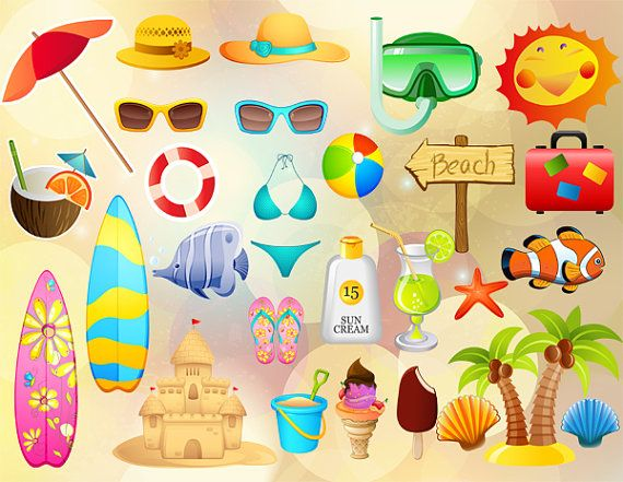 Instant Download Summer Beach Party Photo Booth by OneStopDigital, $5.99