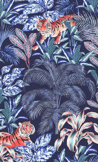Sumatran Tiger Repeat Print by Jacqueline Colley