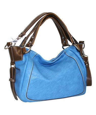Look at this #zulilyfind! Denim Open Sez Me Satchel by Punto Uno #zulilyfinds