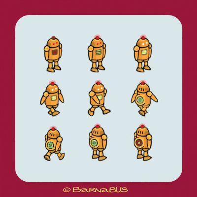 © Barnabus - Projekt robota ▪ Design of the #robot for the game.