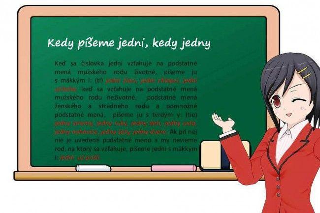 Kedy píšeme jedni, kedy jedny - Stredné školy - SkolskyServis.TERAZ.sk