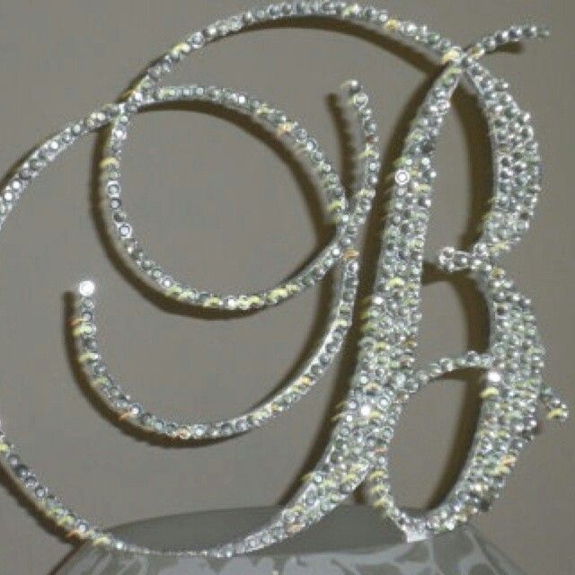 letter cake toppers bling monogram letter cake topper customized 5506