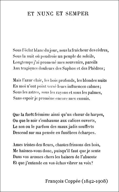 François Coppée – Et nunc et semper