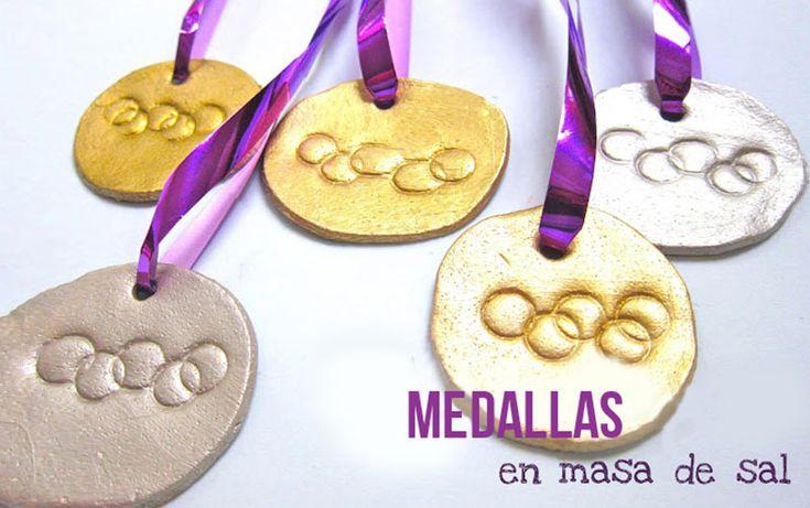 Medallas+Olímpicas+hechas+con+masa+de+sal