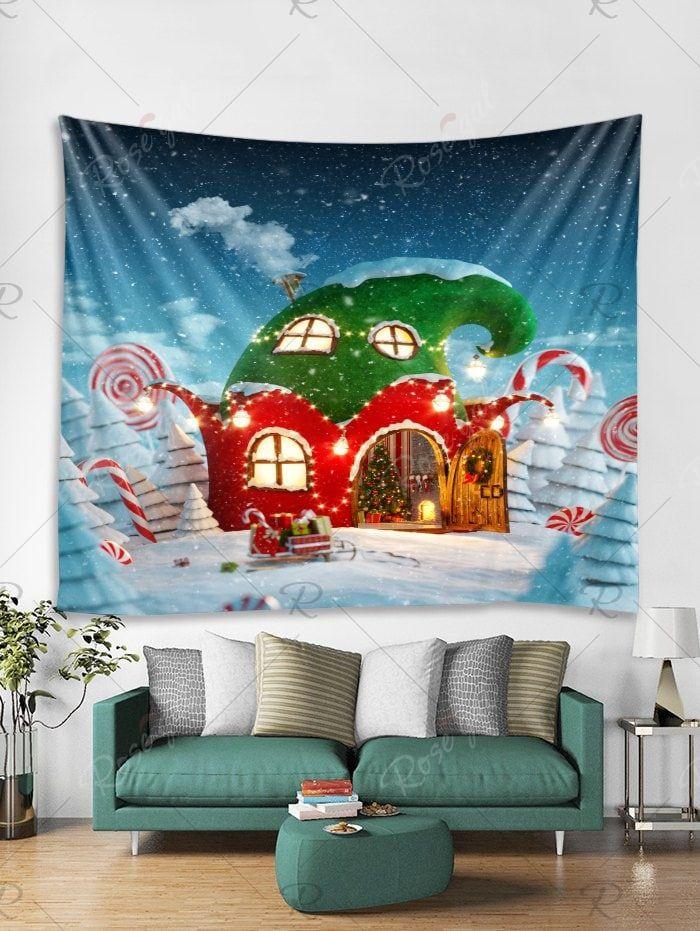 Christmas House Print Wall Tapestry Art Decoration Wall Art Decor Living Room Wall Decor Living Room Apartment Wall Tapestry Decor #wall #tapestry #for #living #room