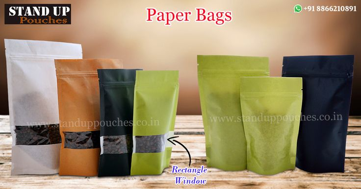 #StandUpPouches produces #paperbags in various styles and sizes.Paper bags are an alternative option to that of #plasticbags and #plasticpackaging.