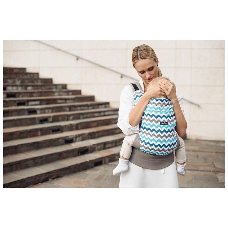 Baby carrier Zaffiro Care blue zigzag 💙
