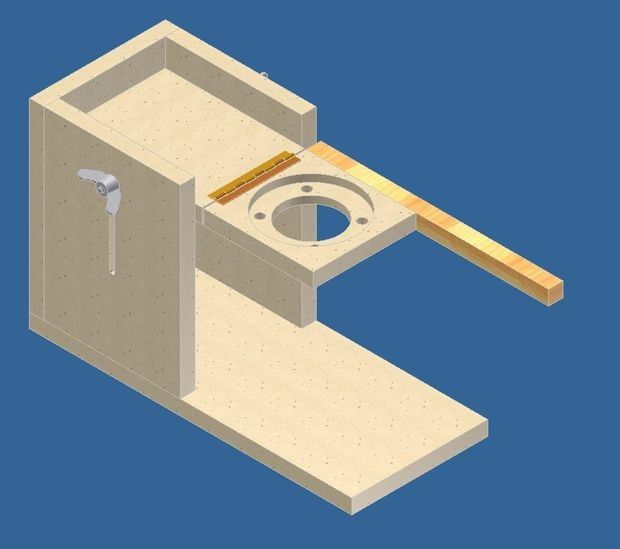 Pocket Hole Jig by wilwrk4tls -- Homemade pocket hole jig intended for utilization in conjunction with a router. Height adjustment and router plates are joined by a hinge, allowing for radial plunge cuts. http://www.homemadetools.net/homemade-pocket-hole-jig