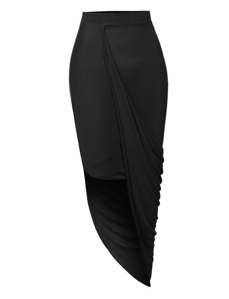 womens asymmetrical banded waist wrap cut out hi low maxi