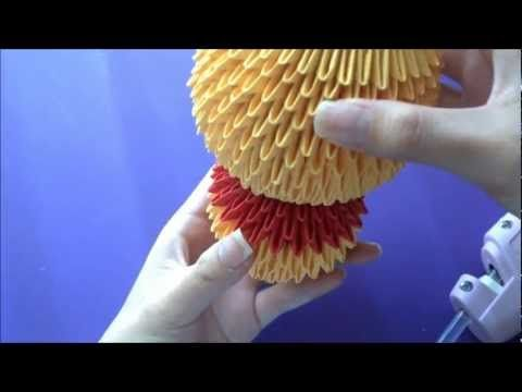 3D origami My Melody tutorial - YouTube