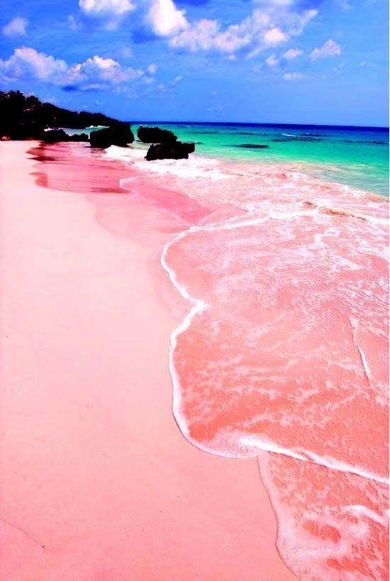Pink Sand Beach, Isla Harbour, Bahamas.