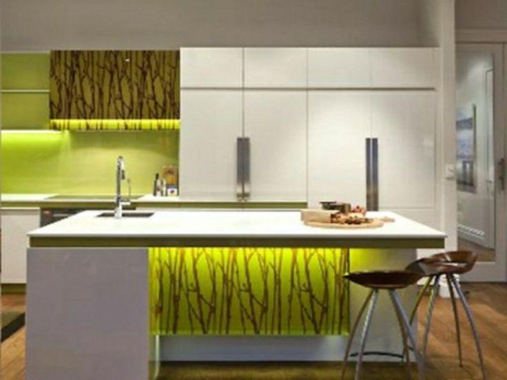 Grüne Ledlampen fuer die Küche Beleuchtung.
