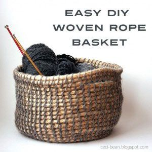 Tutorial to Make a Rope Basket