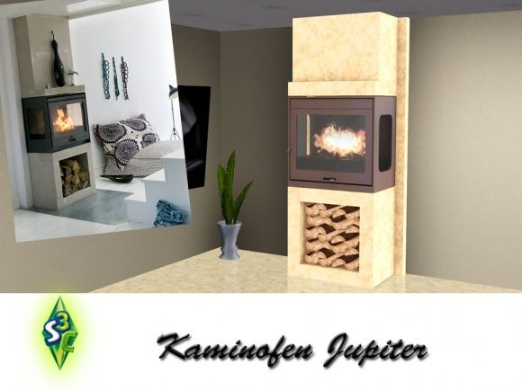 fireplace jupiter by bobo at sims 3 community sims 3. Black Bedroom Furniture Sets. Home Design Ideas