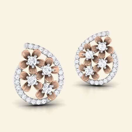 millefleur diamond studs