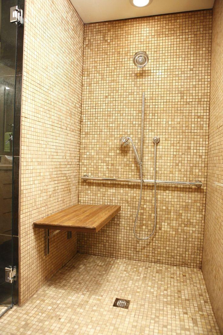 Amazon Com Teak Wall Mount Fold Down Shower Bench Seat