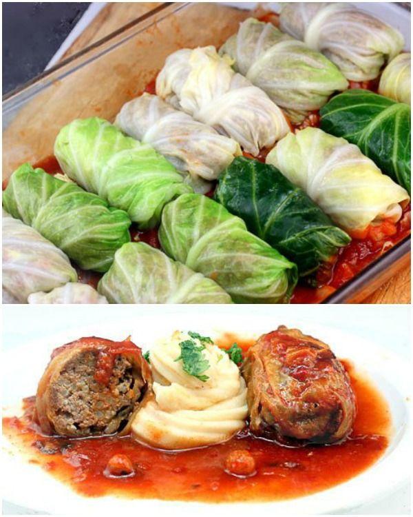 DIY Delicious Stuffed Cabbage Roll (Video) #Recipe, #Dish