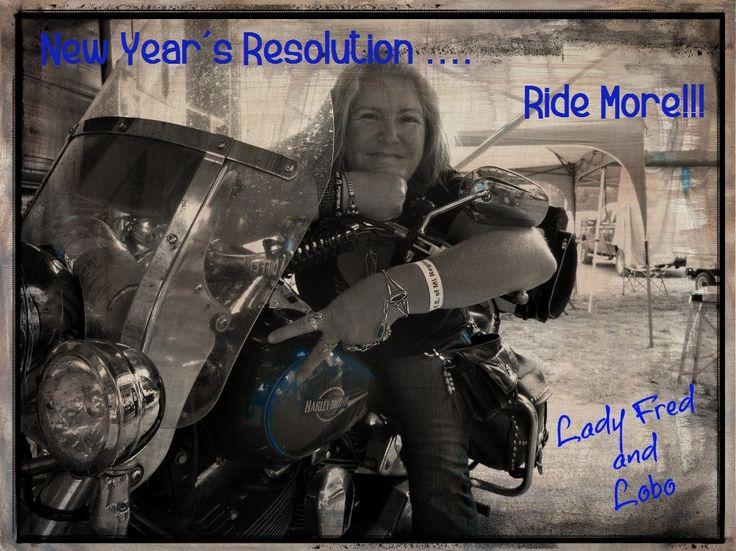 Lady Fred Biker Chick New Year