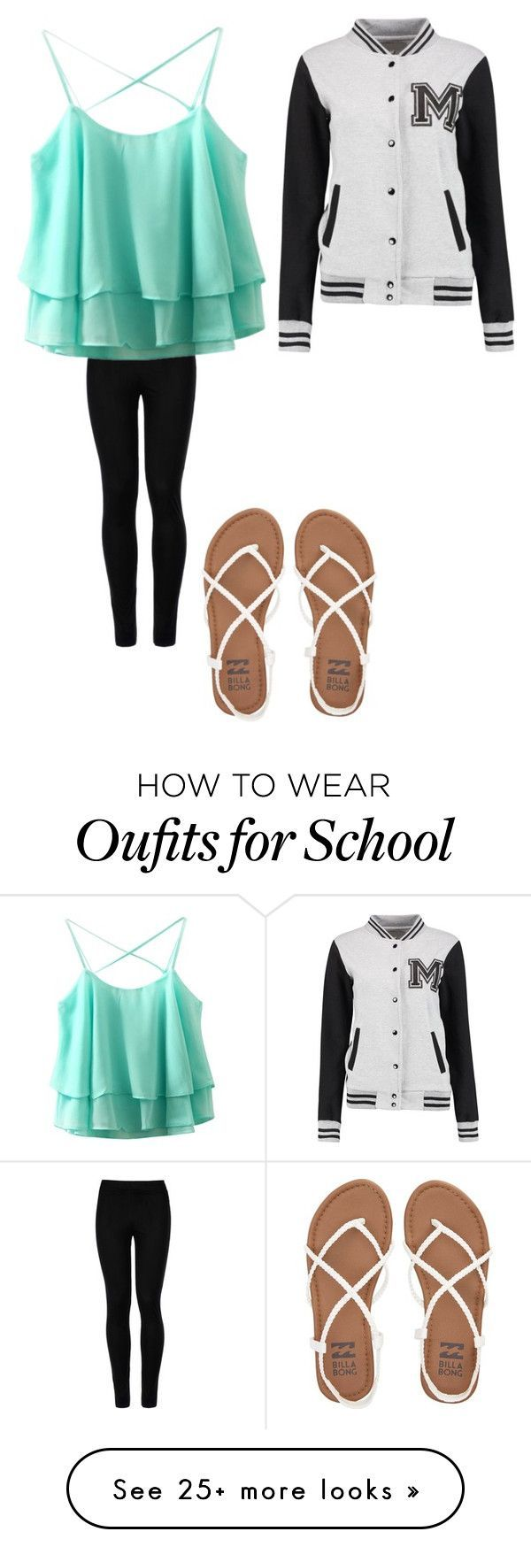 """""""High school"""" by mgarrison41 on Polyvore featuring Wolford and Billabong"""