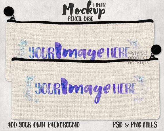 Download Dye sublimation linen pencil case mockup template | Add ...