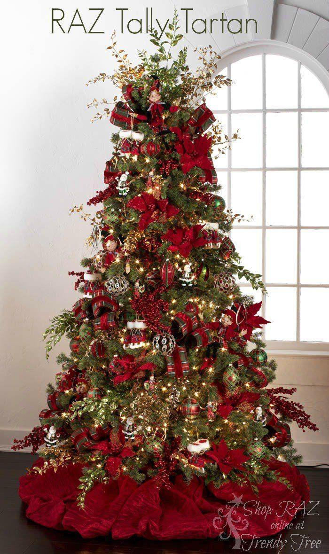 Tally Tartan Raz 2017 Christmas Trees Decorations Pinterest Tree And