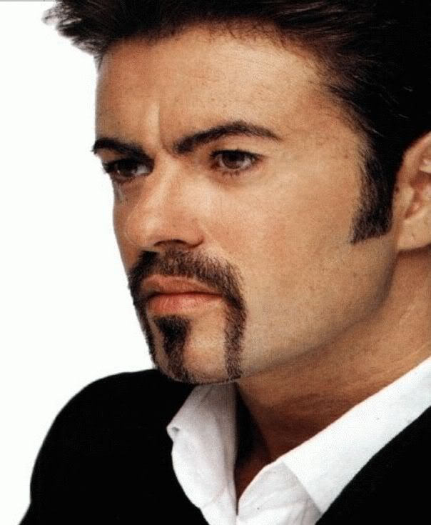 Picture of George Michael horseshoe mustache.