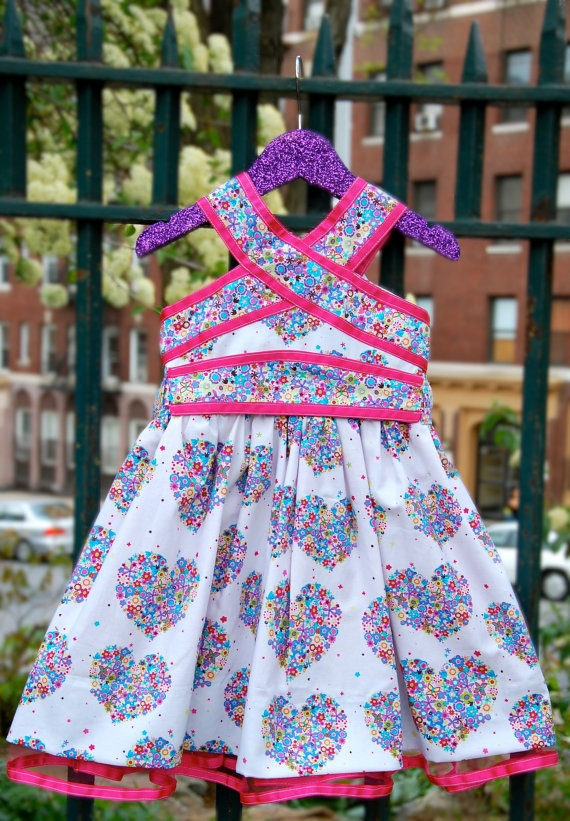 Children Clothing Girls Party Dress Hearts & by PlayPrettyWears, $125.00