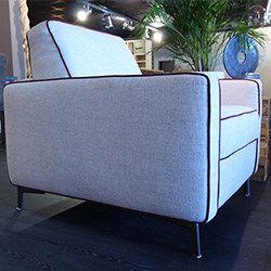 Salon Cervia canapé convertible fauteuil cuir tissu avec ou sans méridienne