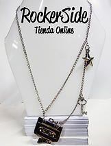 Collar de cassette. $20.000 Adquierelo en www.rockerside.com Envíos a todo Colombia, aceptamos todos los medios de pago