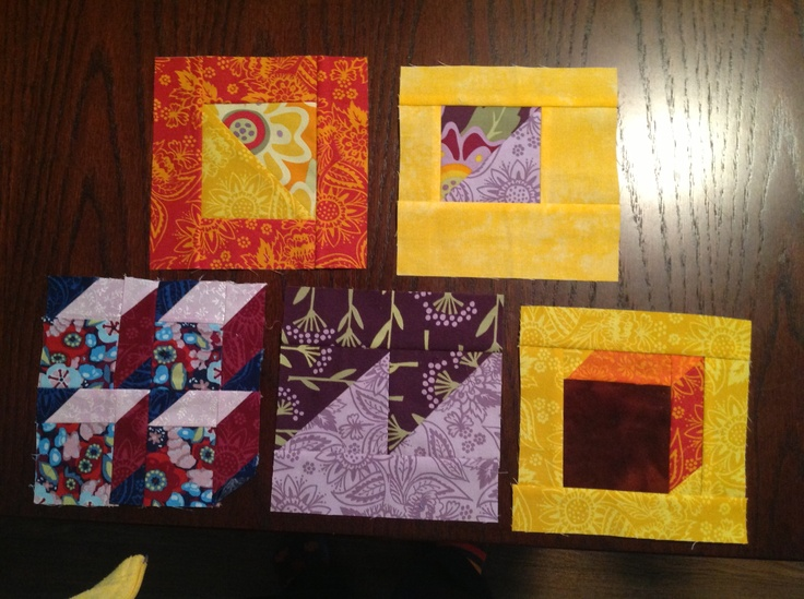 3 group of 5.  Learned a lot about working with triangles thanks to Lisa at patchworks.