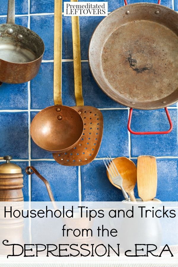 Looking for inexpensive ways to clean your home and maintain it? Check out these clever and frugal Household Tips from the Depression Era!