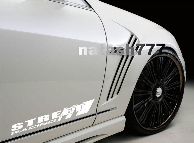 STREET RACING Sport Car Truck SUV Vinyl Decal sticker emblem logo WHITE #natash777