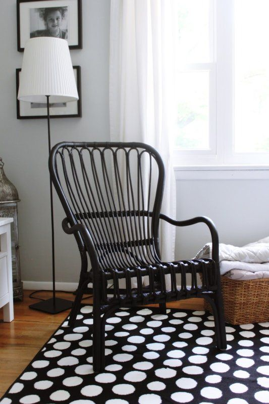 Ikea Storsele Black Rattan Chair