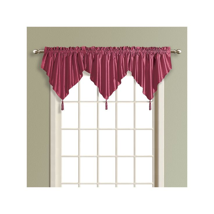 United Curtain Co. Anna Ascot Valance - 24'' x 42'', Purple