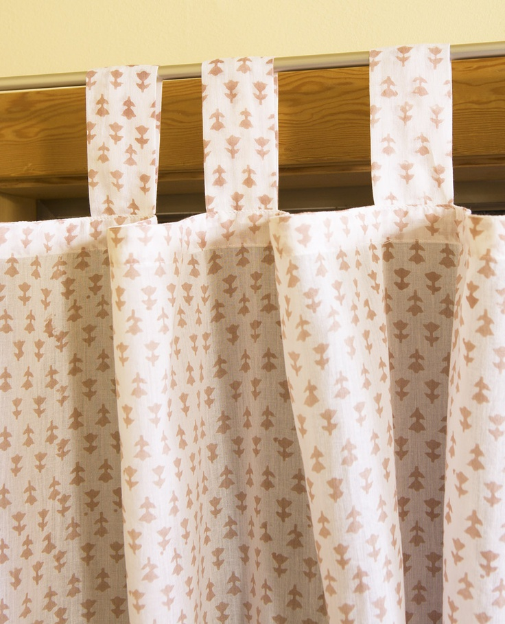 French Country Drapes   Red And White Curtains   Hand Block Printed From  Attiser