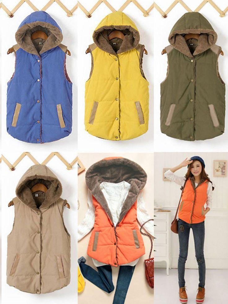 Hooded Body Warmer Jacket Padded Thick Waistcoat Coat | GonChas