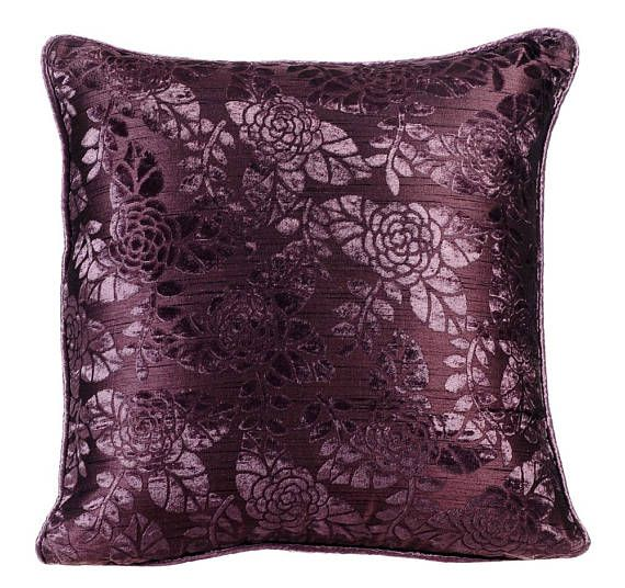 Decorative Plum Purple Pillow Cushion