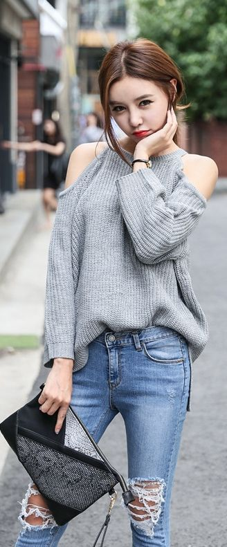28 Ideas de outfits usando el color gris http://beautyandfashionideas.com/28-ideas-de-outfits-usando-el-color-gris/ 28 Outfits ideas using the gray color #28Ideasdeoutfitsusandoelcolorgris