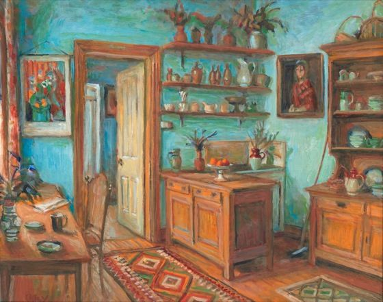 The blue kitchen 1993 by Margaret Olley (Australian female artist)