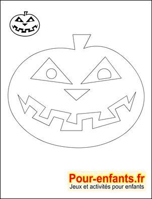 * Silhouette citrouille Halloween. Pour les bricolages et activités manuelles des enfants.