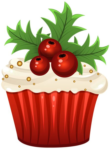 Christmas Muffin PNG Clip Art Image