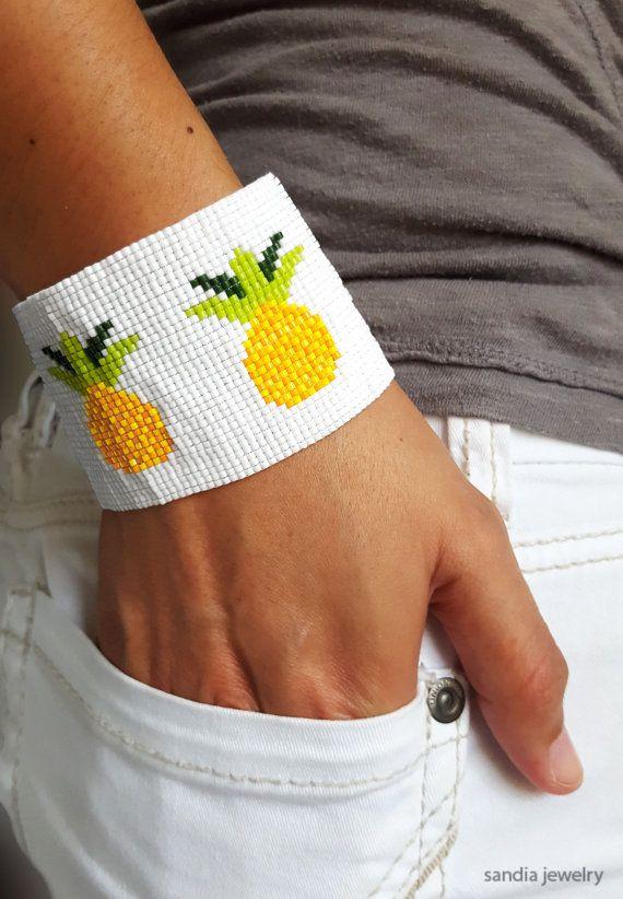 Pineapples Cuff Bracelet