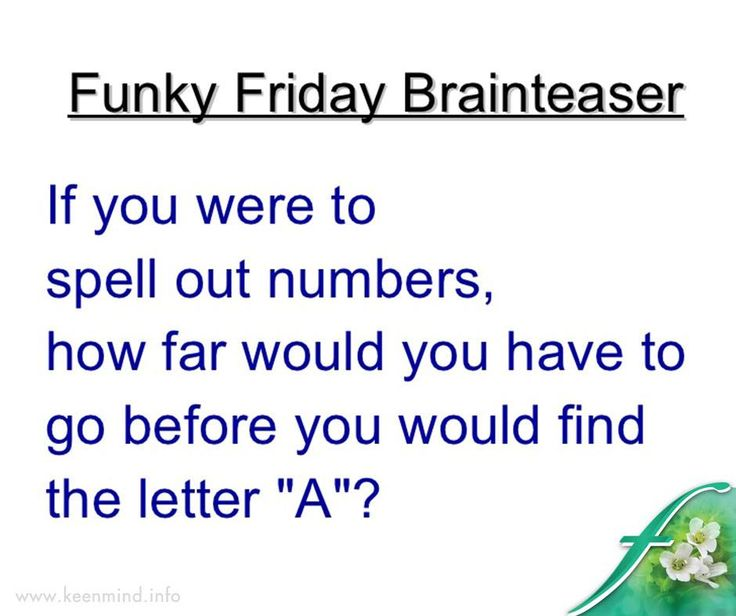 Time to kick off our weekend with another fun brain activity. Do you know the answer? #Flordis #Keenmind #FridayFun