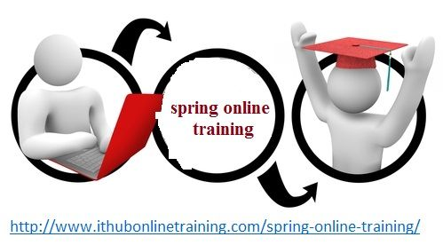 Spring online training class covers all the theories that made Spring likely the most used Java application framework. Beginning from Dependency Injection first spring program to the best way to create, incorporating maven. Aspect Oriented Programming (AOP), incorporating Hibernate with Spring .Building program using Spring MVC.