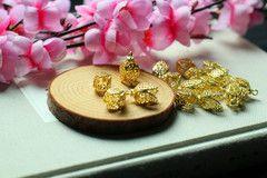 Боб материалы DIY ювелирные изделия ручной работы аксессуары бронза древность четыре стороны кисточкой цветок шляпа шапка 2 * 1.2cm