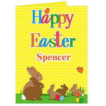 88 best easter gifts images on pinterest baby gifts easter gift personalised easter bunny card negle Image collections