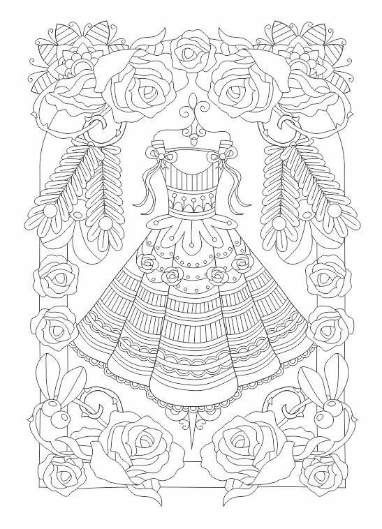 17 beste afbeeldingen over Coloring Pages Girly Fashion