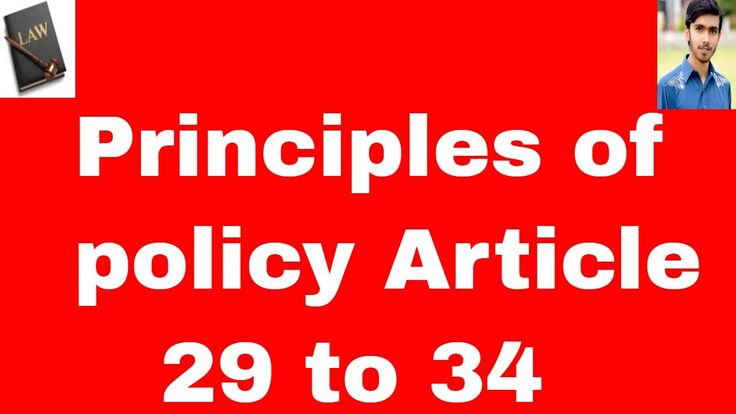 principles of policy article 29 to 34 of constitution of pakistan 1973 i...