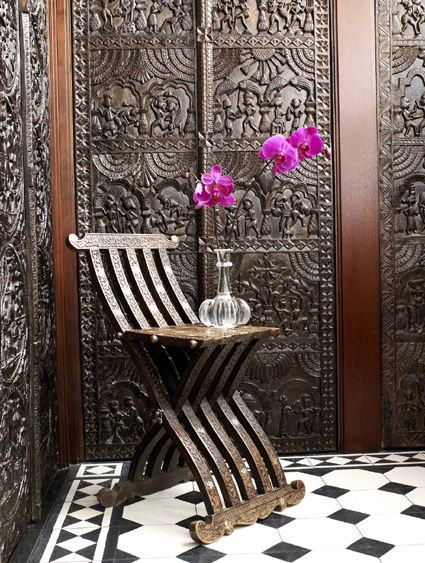 Martyn Lawrence Bullard Design Based In Los Angeles Has Such An Eclectic  And Ethnic Flair For Interior Design. I Love The Hand Carved Walls.